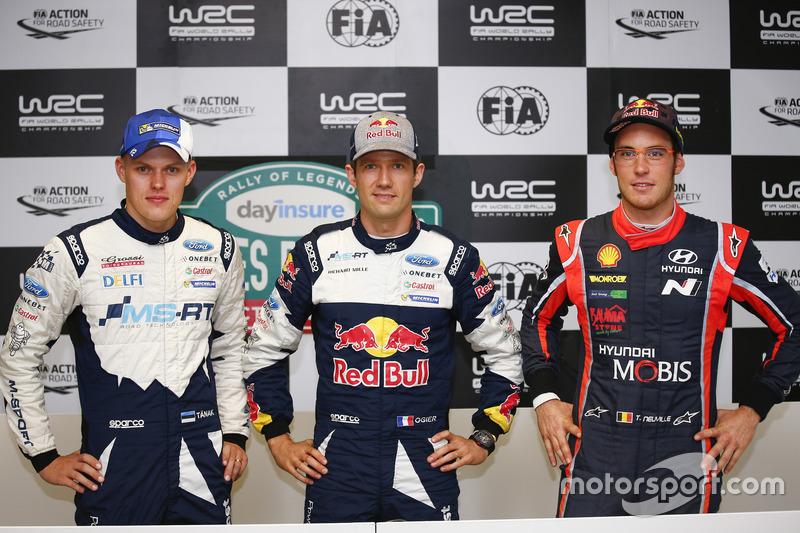 Ott Tänak, M-Sport, Sébastien Ogier, Campeón 2017, M-Sport, Thierry Neuville, Hyundai Motorsport.