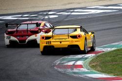 #433 Ferrari North America Ferrari 488: Michael Fassbender, #708 Ferrari of Denver Ferrari 458: John