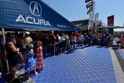 #86 Michael Shank Racing with Curb-Agajanian Acura NSX, GTD: Katherine Legge, Alvaro Parente, #93 Michael Shank Racing with Curb-Agajanian Acura NSX, GTD: Lawson Aschenbach, Justin Marks paddock, atmosphere,