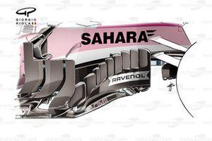 Force India VJM11 barge board