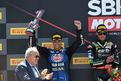 Podium: second place Michael van der Mark, Pata Yamaha