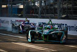 Nelson Piquet Jr., Jaguar Racing leads Sam Bird, DS Virgin Racing