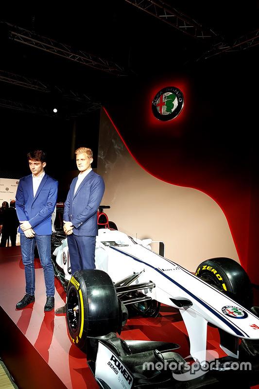 Marcus Ericsson et Charles Leclerc, Sauber