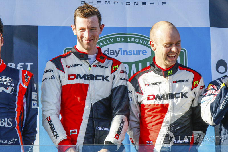 Podio: Elfyn Evans, Daniel Barritt, Ford Fiesta WRC, M-Sport