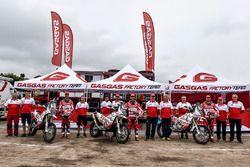 Jonathan Barragán, Johnny Aubert y Cristian España, GasGas Rally Team