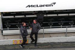 Zak Brown, McLaren Technology Group, Eric Boullier, Racing Director, McLaren