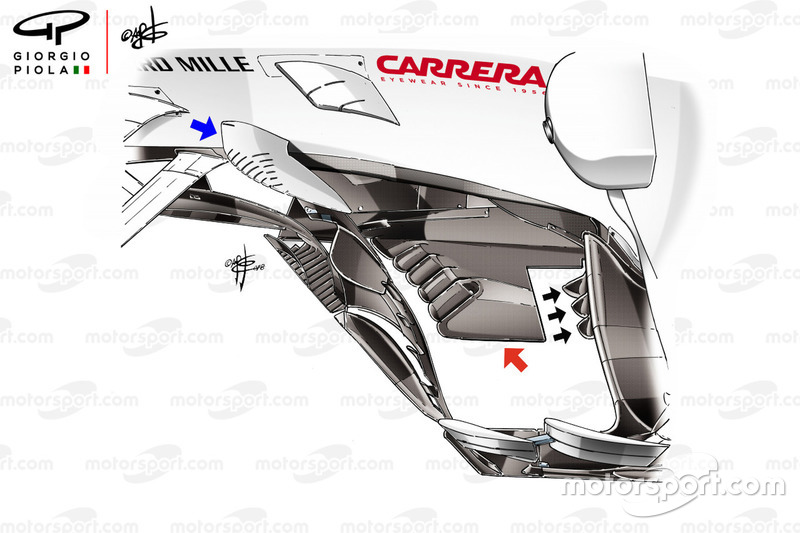Sauber C37: Bargeboards