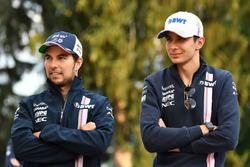 Sergio Perez, Force India and Esteban Ocon, Force India F1