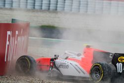 Ralph Boschung, MP Motorsport, crashes out of the race