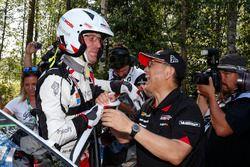 Tercer lugar Jari-Matti Latvala, Toyota Yaris WRC, Toyota Gazoo Racing
