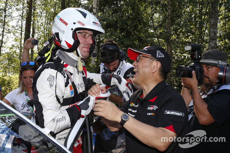 Il terzo classificato Jari-Matti Latvala, Toyota Yaris WRC, Toyota Gazoo Racing