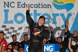 Johnny Sauter, GMS Racing, Chevrolet Silverado ISM Connect celebrates his win