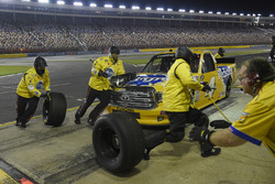 Todd Gilliland, Kyle Busch Motorsports, Toyota Tundra Pedigree, makes a pit stop