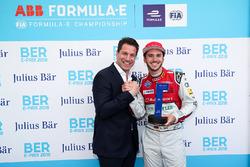 Daniel Abt, Audi Sport ABT Schaeffler, reçoit le Julius Baer Pole position award