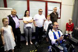 Fahrer Dario Pergolini im Simulator
