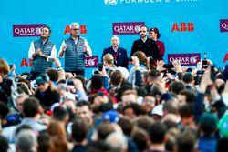 Alejandro Agag, CEO, Formula E, Ulrich Spiesshofer, CEO ABB, Jean Todt, FIA President