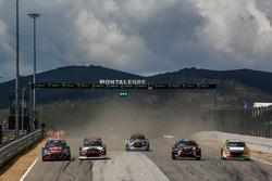Себастьен Лёб, Peugeot 208 WRX, Team Peugeot Total, Никлас Гронхольм, Hyundai i20, GRX Taneco, Андреас Баккеруд, Audi S1 EKS RX quattro, EKS Audi Sport, Герлан Шишери, Renault Mégane R.S. RX, GC Kompetition, и Грегуар Демустье, Peugeot 208 WRX, Sébastien Loeb Racing