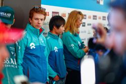 Oliver Turvey, NIO Formula E Team, Ma Qing Hua, NIO Formula E Team, talk to the press