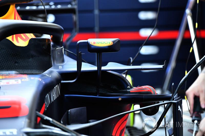 Detalle del sidepod de Red Bull Racing RB14