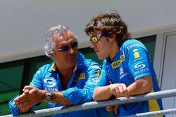 Flavio Briatore talks, Fernando Alonso, Renault Sport F1 Team R25
