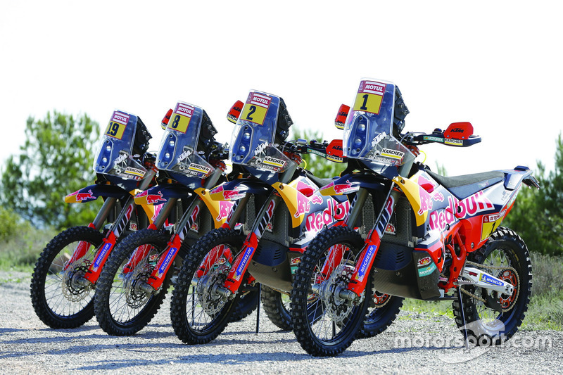 Todas las motos del Red Bull KTM Factory Team