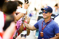 Fans con Rubens Barrichello