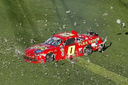 Garrett Smithley, JD Motorsports, Flex Tape Chevrolet Camaro, incidente