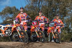 Jeffrey Herlings, Pauls Jonass and Glenn Coldenhoff, KTM Factory Racing