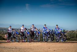 Jeremy Seewer, Arnaud Tonus e Shaun Simpson, Wilvo Yamaha Official MXGP Team; Romain Febvre, Jeremy Van Horebeek, Yamaha Factory Racing Team