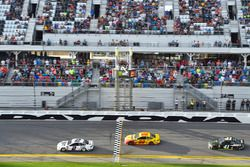 Brad Keselowski, Team Penske Ford Fusion, Joey Logano, Team Penske Ford Fusion and Kurt Busch, Stewart-Haas Racing Ford Fusion top 3 finishers
