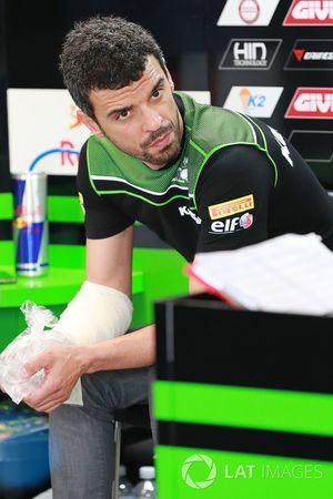 Injured Kenan Sofuoglu, Kawasaki Puccetti Racing
