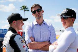 Ben Kennedy with John Hunter Nemechek, NEMCO Motorsports, Fleetwing Corporation Chevrolet Silverado