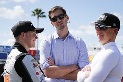 Ben Kennedy with John Hunter Nemechek, NEMCO Motorsports, Fleetwing Corporation Chevrolet Silverado and Justin Haley, GMS Racing, Fraternal Order Of Eagles Chevrolet Silverado