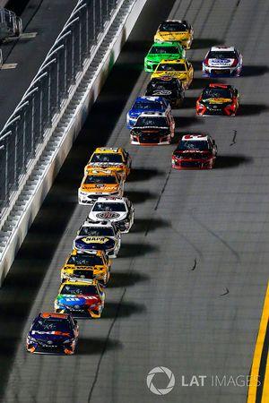 Denny Hamlin, Joe Gibbs Racing Toyota, Kyle Busch, Joe Gibbs Racing Toyota and Erik Jones, Joe Gibbs Racing Toyota
