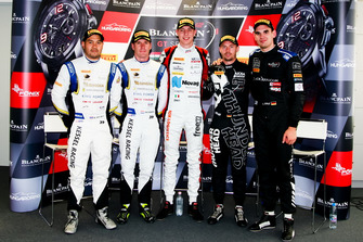 Press Conference, Pole position for #88 Akka ASP Team Mercedes-AMG GT3: Raffaele Marciello, #39 TP 12 - Kessel Racing Ferrari 488 GT3: Piti Bhirombhakdi, Carlo Van Dam in Pro-AM, #90 Akka ASP Team Mercedes-AMG GT3: Nico Bastian in Silver, #6 BLACK FALCON Mercedes-AMG GT3: Luca Stolz in Silver