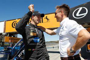 I vincitori del Motul Pole award #10 Wayne Taylor Racing Cadillac DPi, P: Renger van der Zande, Jordan Taylor