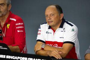 Frederic Vasseur, Team Principal, Sauber, nella conferenza stampa