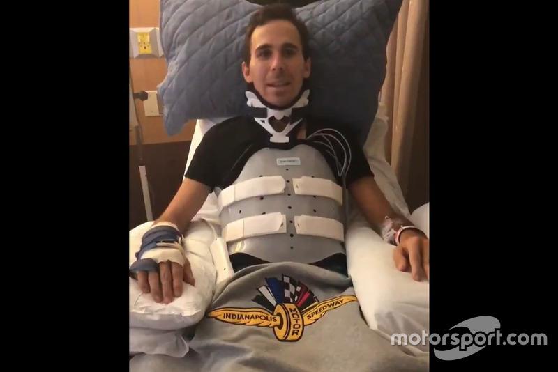 Robert Wickens após o acidente