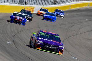 Denny Hamlin, Joe Gibbs Racing, Toyota Camry FedEx Ground, Chris Buescher, JTG Daugherty Racing, Chevrolet Camaro Natural Light Race Day Resume