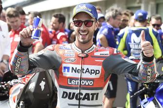 Polesitter Andrea Dovizioso, Ducati Team