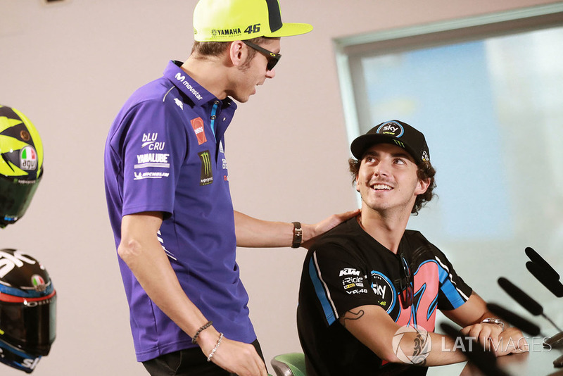 Valentino Rossi, Yamaha Factory Racing, Francesco Bagnaia, Sky Racing Team VR46