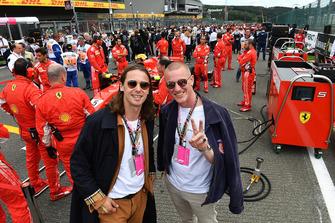 Josh-Lloyd Watson and Tom McFarland from Jungle on the grid