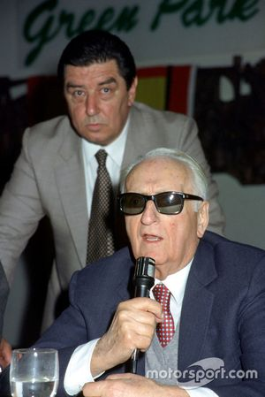 Maranello 1984, Enzo Ferrari during a meeting with journalists