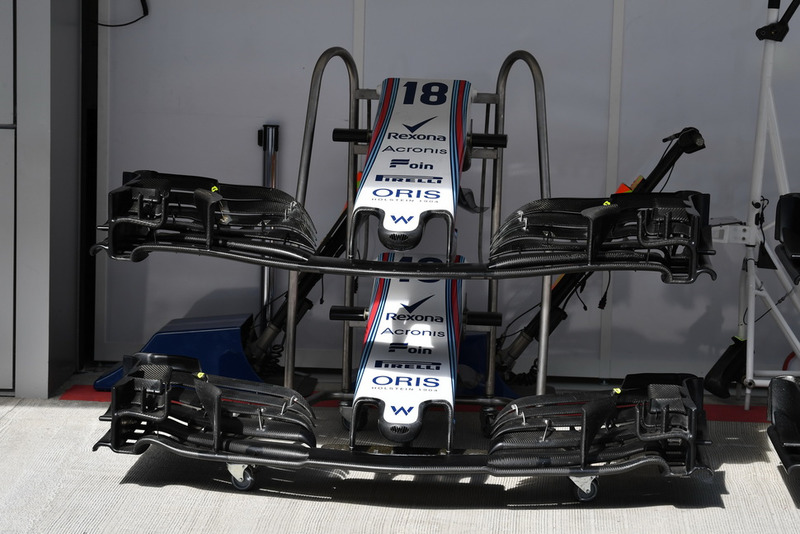 Morro y alerones delanteros del Williams FW41