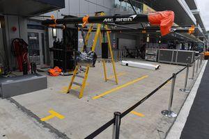 L'emplacement des stands de McLaren