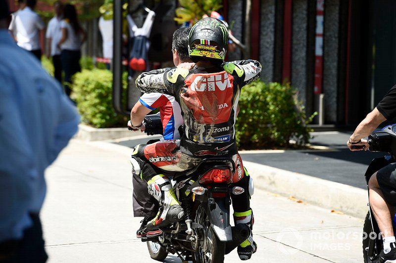 Cal Crutchlow, LCR Honda Castrol, after crash