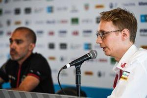 Sylvain Filippi, Managing Director & CTO, Virgin Racing in the press conference
