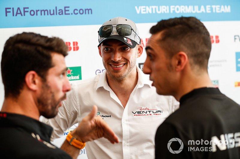Edoardo Mortara, Venturi Formula E, con Jose Maria Lopez, Dragon Racing, Sébastien Buemi, Nissan e.Damss