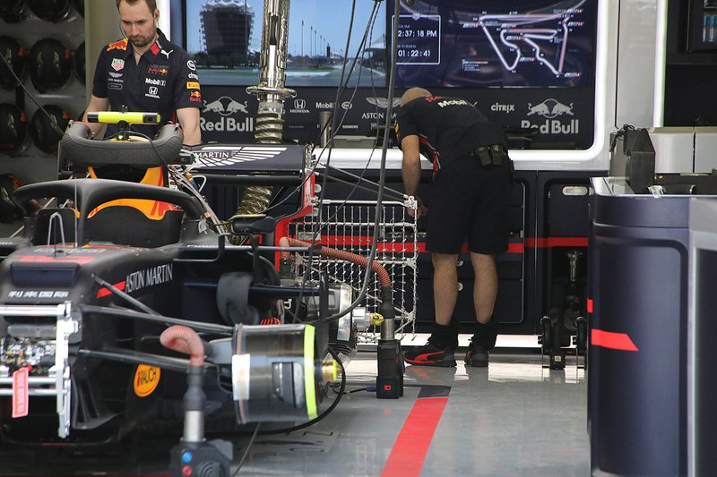 Red Bull Racing team area
