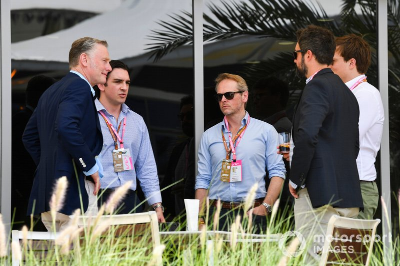 Sean Bratches, Managing Director of Commercial Operations, Formula One Group, with VIP guests